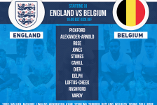 England team v Belgium in World Cup 2018